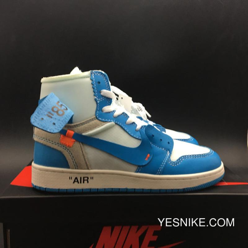a36a6dc6ead ... Jordan OFF-WHITE Air X 1 North Carolina Colorways OFF-WHITE 1 X Powder  ...