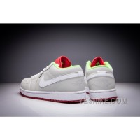 Big Discount! 66% OFF! Air Jordan 1 Low Bugs Bunny Men And Women White/Light Silver/True Red Shoes