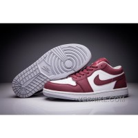Big Discount! 66% OFF! Air Jordan 1 Low Wine Red White Men And Women Size Shoes