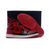 Big Discount! 66% OFF! Air Jordan 1 High Chicago Bulls Black/Varsity Red Cheap For Sale