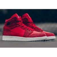 "Big Discount! 66% OFF! 2016 Air Jordan 1 High ""Red Elephant Print"" Gym Red/Black-White-Team Red SXac3"