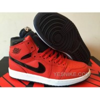 Big Discount! 66% OFF! 2016 Air Jordan 1 High Red Black Shoes For Sale T3BZw