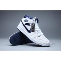 "Big Discount! 66% OFF! 2016 Air Jordan 1 Retro ""Metallic Navy"" White/Metallic Navy CYhrj"