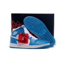 Big Discount! 66% OFF! Air Jordans 1 Retro High White/University Blue Shoes For Sale XDEwd
