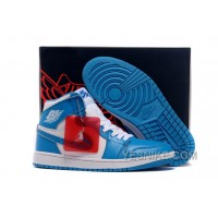 "Big Discount! 66% OFF! Air Jordan 1 Retro High OG ""UNC"" Dark Powder Blue/White 2015 For Sale"