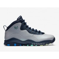 "Big Discount! 66% OFF! 2016 Air Jordan 10 ""Rio"" Wolf Grey/Photo Blue-Obsidian-Green Glow"