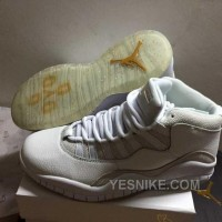 "Big Discount! 66% OFF! Air Jordans 10 Retro ""OVO"" Summit White Shoes For Sale"