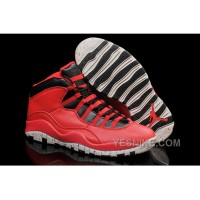"Big Discount! 66% OFF! Air Jordan 10 ""Gym Red"" Gym Red/Black-Wolf Grey 2015 For Sale"