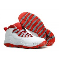 Big Discount! 66% OFF! Air Jordan 10 (X) Retro White/ Varsity Red For Sale