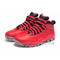 "Big Discount! 66% OFF! Air Jordan 10 Retro ""Bulls Over Broadway"" Gym Red/Black-Wolf Grey"