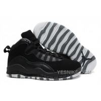 Big Discount! 66% OFF! Cheap Nike Air Jordan 10 X Retro Black/White-Stealth For Sale