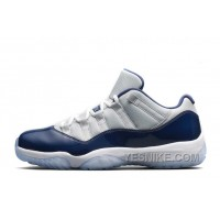 "Big Discount! 66% OFF! For Sale Air Jordan 11 Retro Low ""Georgetown"" Grey Mist/White-Midnight Navy 2015"