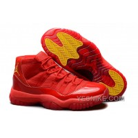 "Big Discount! 66% OFF! Air Jordans 11 Retro ""Red October"" Red/Varsity Maize For Sale"