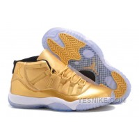 Big Discount! 66% OFF! New Nike Air Jordan 11 All Gold Mens Cheap For Sale