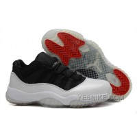 Big Discount! 66% OFF! Cheap Air Jordan 11 Retro Low White/Black-True Red