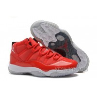 "Big Discount! 66% OFF! Cheap Air Jordan 11 (XI) Carmelo Anthony ""Red"" PE For Sale"