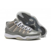 Big Discount! 66% OFF! Cheap Air Jordan 11 (XI) Medium Grey/Cool Grey-White For Sale