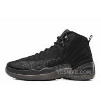 "Big Discount! 66% OFF! Air Jordan 12 Retro ""OVO"" All Black Cheap For Sale Online"