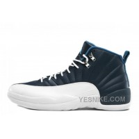 Big Discount! 66% OFF! Air Jordan 12 Retro Obsidian/White-French Blue-University Blue For Sale