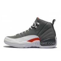 Big Discount! 66% OFF! Air Jordan 12 Retro Cool Grey/Total Orange-White Online Cheap For Sale