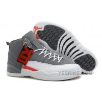 Big Discount! 66% OFF! Air Jordans 12 Retro Cool Grey/Total Orange-White For Sale