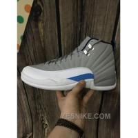 Big Discount! 66% OFF! Men Basketball Shoes Air Jordan XII Grey University Blue AAAAA 257