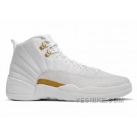 "Big Discount! 66% OFF! 2016 Air Jordan 12 ""OVO"" White/Mtlc Gold-White"