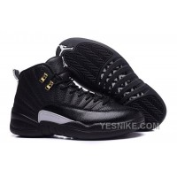 "Big Discount! 66% OFF! 2016 Air Jordan 12 ""The Master"" Black/Rattan-White-Metallic Gold"