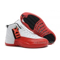Big Discount! 66% OFF! Air Jordans 12 Retro White/Varsity Red-Black For Sale Xxnab