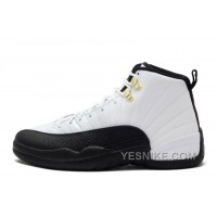 "Big Discount! 66% OFF! Cheap Air Jordan 12 Retro ""Taxi"" White-Black For Sale"