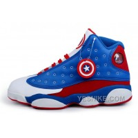 Big Discount! 66% OFF! JORDAN 13 Captain America Men Basketball Shoes 41-47 YYbix