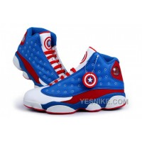 Big Discount! 66% OFF! Air Jordan 13 Captain America Blue Red White 2016
