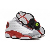 "Big Discount! 66% OFF! Air Jordans 13 Retro ""Grey Toe"" White/Black-True Red-Cement Grey For Sale"