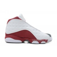 Big Discount! 66% OFF! Air Jordans 13 Retro White/Team Red-Flint Grey For Sale