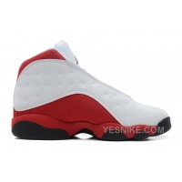 Big Discount! 66% OFF! Air Jordans 13 Retro White/Black-Varsity Red For Sale