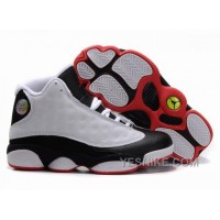 Big Discount! 66% OFF! Greece Air Jordan 13 Xiii Womens Shoes New White Black W7k7j