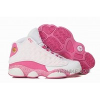 Big Discount! 66% OFF! Best Price For Sale Air Jordan 13 Xiii Retro Women Shoes Online White Pink 7zsj5