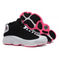 Big Discount! 66% OFF! Coupon For 2015 New Nike Air Jordan Xiii 13 Womens Shoes Black And White Pink Ht4pQ