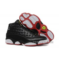 "Big Discount! 66% OFF! Air Jordan 13 Retro ""Playoffs"" Black-White/Varsity Red For Sale"