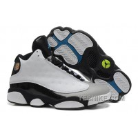 "Big Discount! 66% OFF! Air Jordan 13 (XIII) Retro ""Barons"" White/Black-Grey-Teal For Sale"