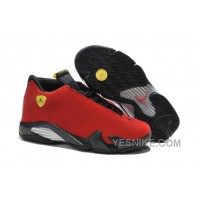 "Big Discount! 66% OFF! 2016 Air Jordan 14 ""Ferrari"" Chilling Red/Black Vibrant Yellow"
