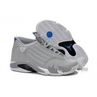 "Big Discount! 66% OFF! 2016 Air Jordan 14 ""Sport Blue"" Wolf Grey/White-Sport Blue"