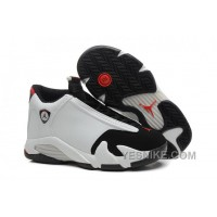 "Big Discount! 66% OFF! 2016 Air Jordan 14 ""Black Toe"" White/Black-Varsity Red-Metallic Silver"