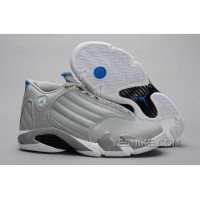 "Big Discount! 66% OFF! Air Jordans 14 Retro ""Sport Blue"" Wolf Grey/White For Sale"