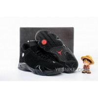 Big Discount! 66% OFF! 2016 Air Jordan 14 All Black Shoes IkarX
