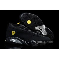 "Big Discount! 66% OFF! Air Jordan 14 Retro ""Black Suede Ferrari"" Cheap For Sale"