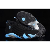 Big Discount! 66% OFF! Air Jordan 14 Retro Black/University Blue-Metallic Silver Mens For Sale