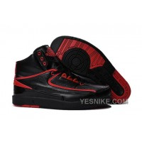 "Big Discount! 66% OFF! 2016 Air Jordan 2 ""Alternate '87"" Black/Red Shoes ZSt2r"