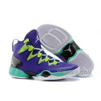 "Big Discount! 66% OFF! Air Jordans XX8 SE ""Mardi Gras"" Russell Westbrook PE Court Purple/Black-Flash Lime ZKHFR"