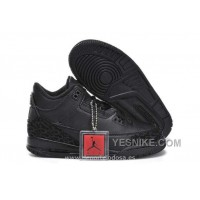 Big Discount! 66% OFF! Nike Air Jordan 3 Kids Tous Negro (Air Jordan 3 Naranja)